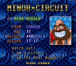 Super Punch-Out!! - Character Profile bear hugger is fat - he\